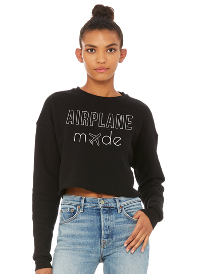 Airplane Mode Cropped Fleece - Direct Embroidery