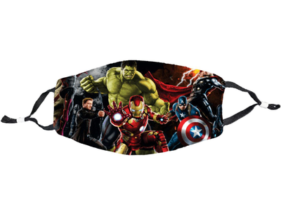 Avengers Face Mask - Direct Embroidery
