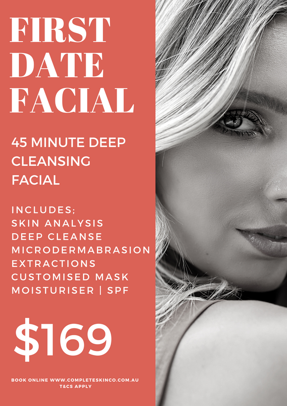 FIRST DATE FACIAL - includes Microdermabrasion $169