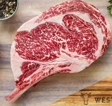 Kingsway Wagyu bone-in Rib Steak 6+