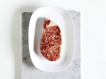 Kingsway Wagyu Beef Striploin Steak, marble score 9+