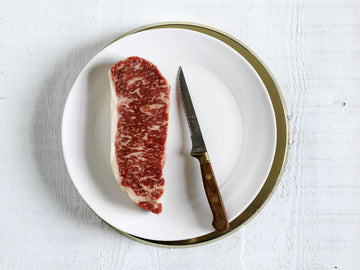 Kingsway Wagyu Beef Striploin Steak, marble score 6+