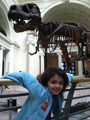 Sue (& Angelina) at the Field Museum, Chicago!