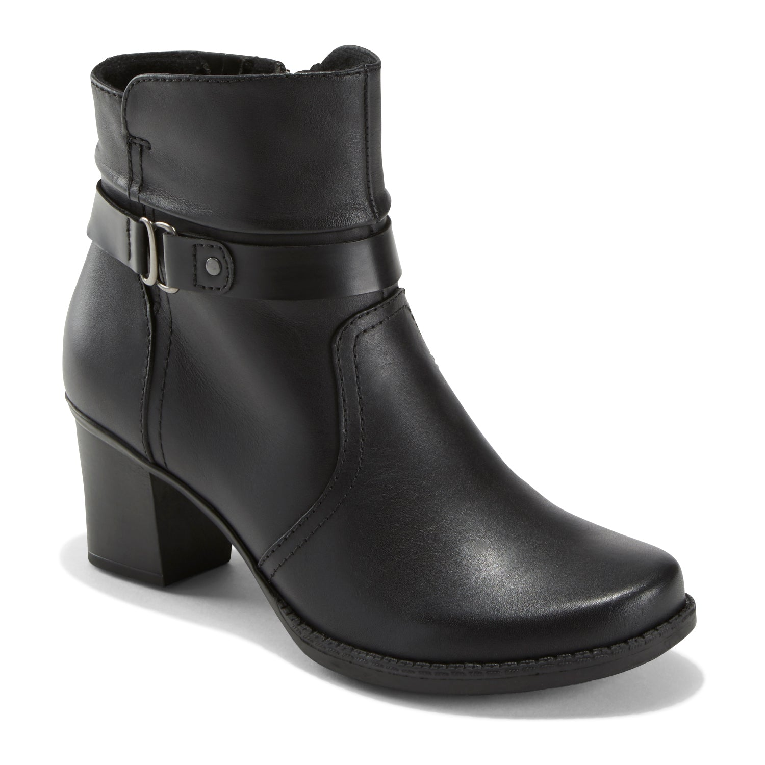 Western and moto influences combine to create a bootie with a sophisticated edge. It\\\'s as comfortable as it is eye catching.