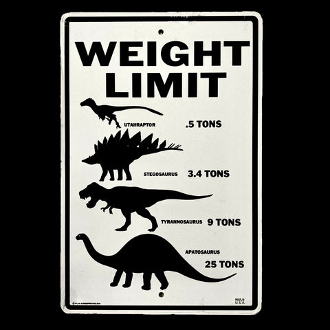 """Weight Limit"" Metal Sign"