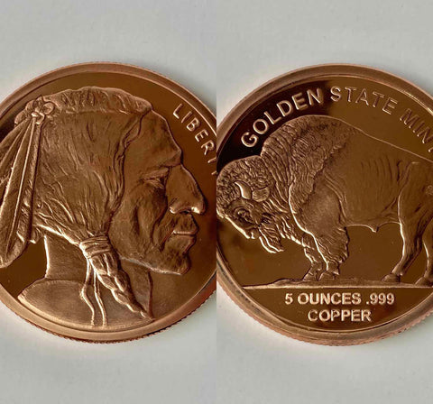 5 oz. Indian Head (Buffalo) Copper Coin