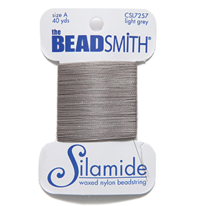 Silamide Beading Thread - Light Grey
