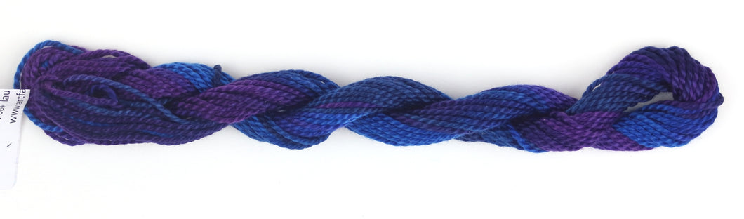 Hand Dyed Pearl Cotton size 3 - Blueberries