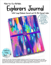 Load image into Gallery viewer, Explorer's Journal Pattern - Digital Version (download) 20% Off!