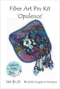 Fiber Art Pin Kit: Opulence