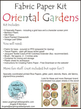 Load image into Gallery viewer, Oriental Gardens Fabric Paper Kit