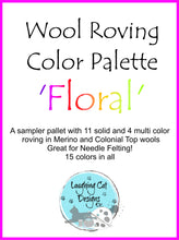 Load image into Gallery viewer, Wool Roving Palette - Floral