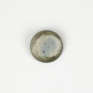 Button: Faux Wood 34mm Round