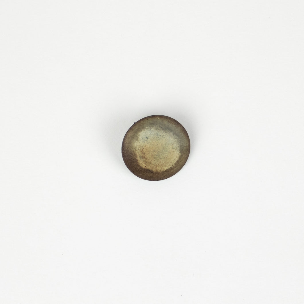 Button: Faux Wood 23mm Round