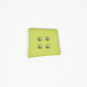 Button: Plastic 55mm Square Lime