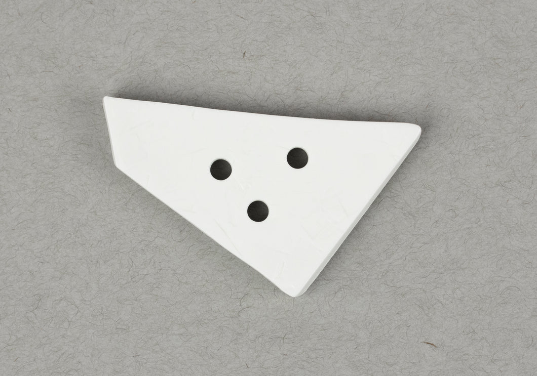Button: Plastic 70mm White Trapezoid