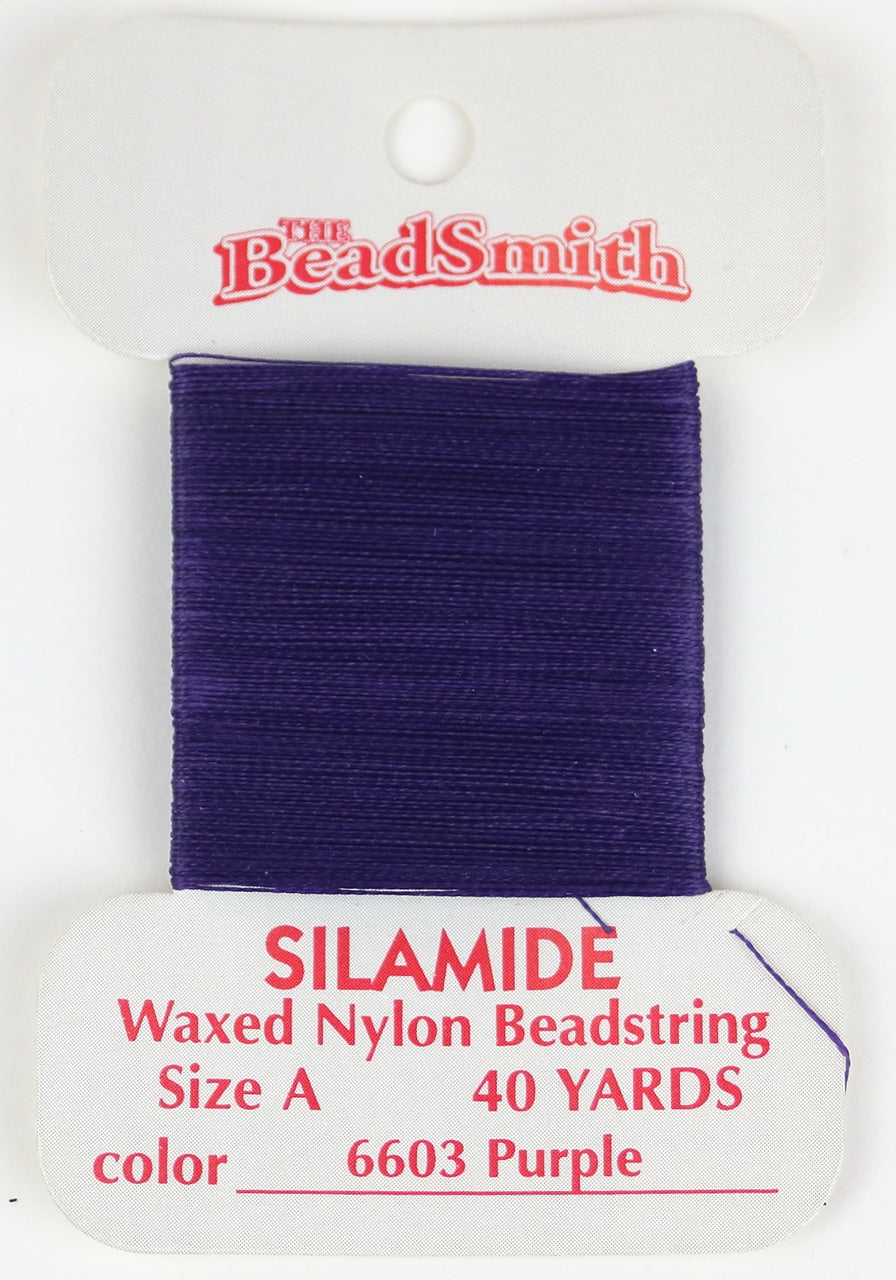 Silamide Beading Thread - Purple