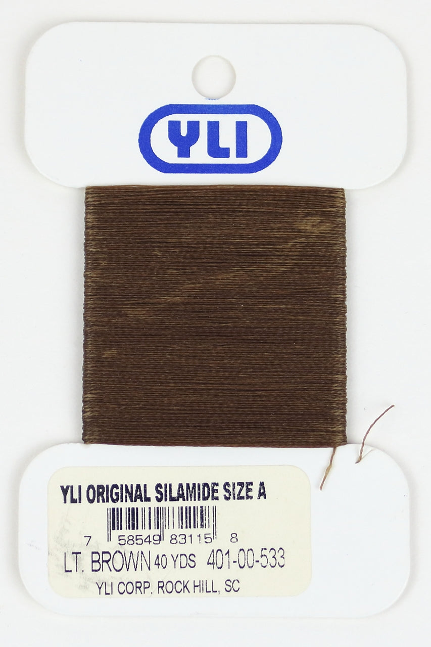 Silamide Beading Thread - Lt. Brown