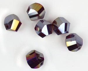 Bead - Focus Bead: Garnet (DARK RED) AB 12mm Single Crystal Bead