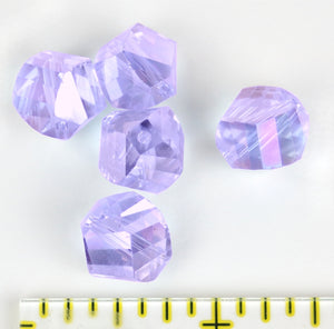 Bead - Focus Bead: Pale Lavendar AB 12mm Single Crystal Bead
