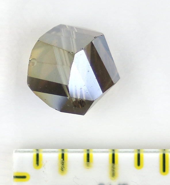 Bead - Focus Bead: Pale Earth AB 12mm Single Crystal Bead