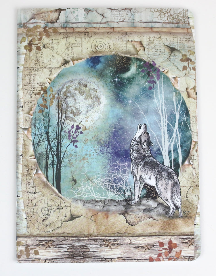Notebook A5 - Wolf & Moon