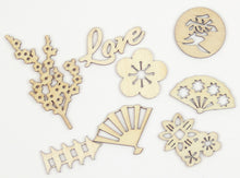 Load image into Gallery viewer, Laser Cut Wood Embellishments: Oriental