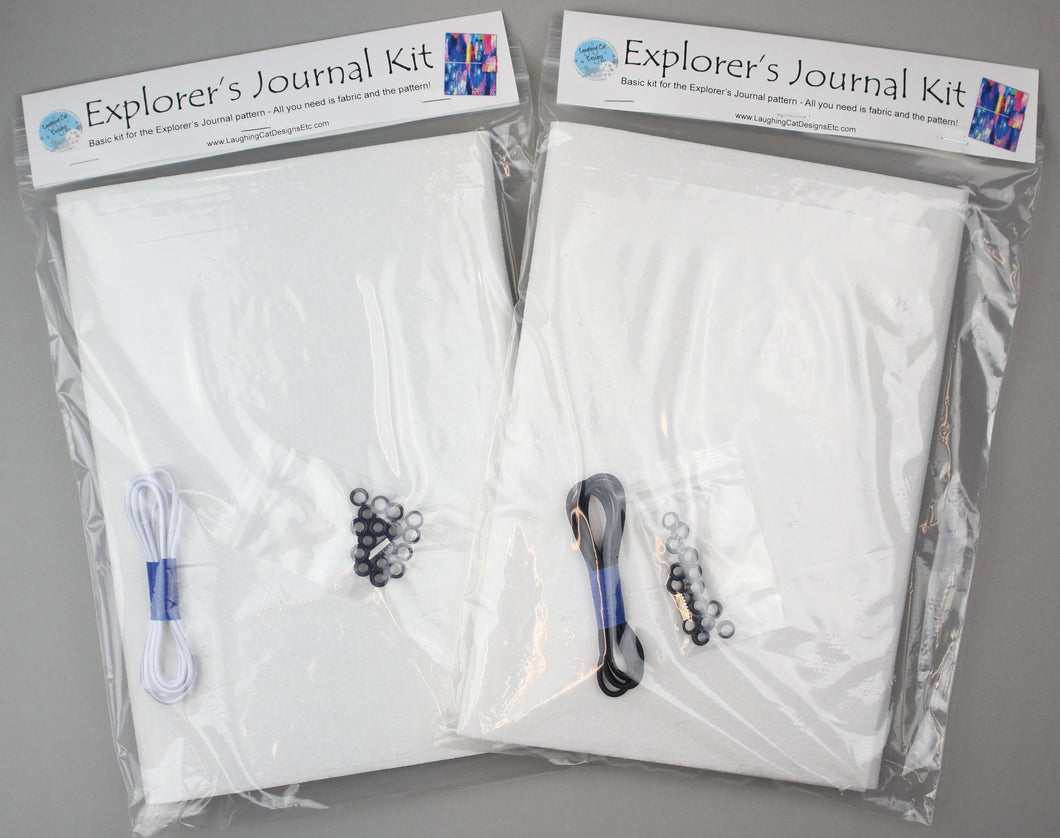 Explorer's Journal Base Kit - White or Black Elastic