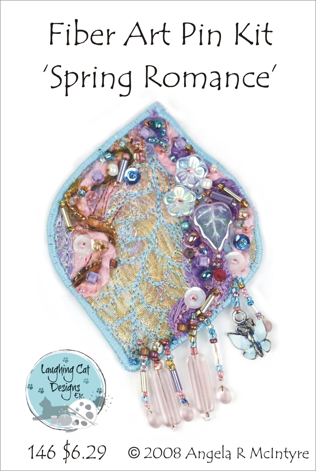 Fiber Art Pin Kit: Spring Romance
