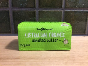 True Organics Butter Unsalted 250g