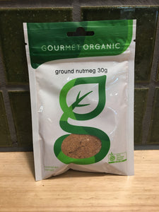 Gourmet Organic Herbs Ground Nutmeg 30g