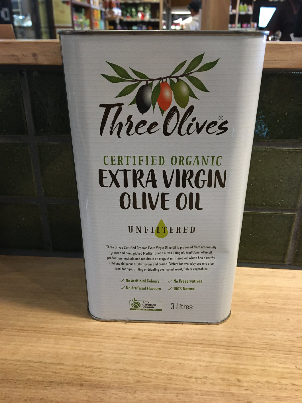 Three Olives Extra Virgin Olive Oil  Unfiltered 3L
