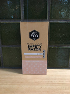 Ever Eco Safety Razor Rose Gold+10 Replacement Blades