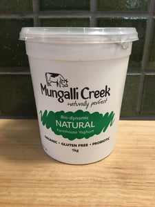 Mungalli Creek Yoghurt Natural 1kg