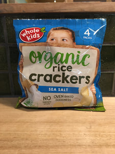 Whole Kids Rice Crackers Sea Salt Organic 60g 4pk
