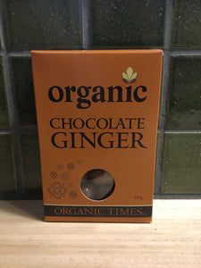 Organic Times Chocolate Ginger 150g