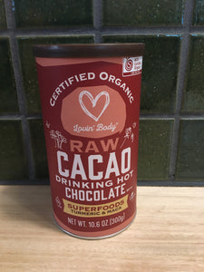 Lovin Body Raw Cacao Drinking Chocolate - Superfoods Turmeric and Maca 300g