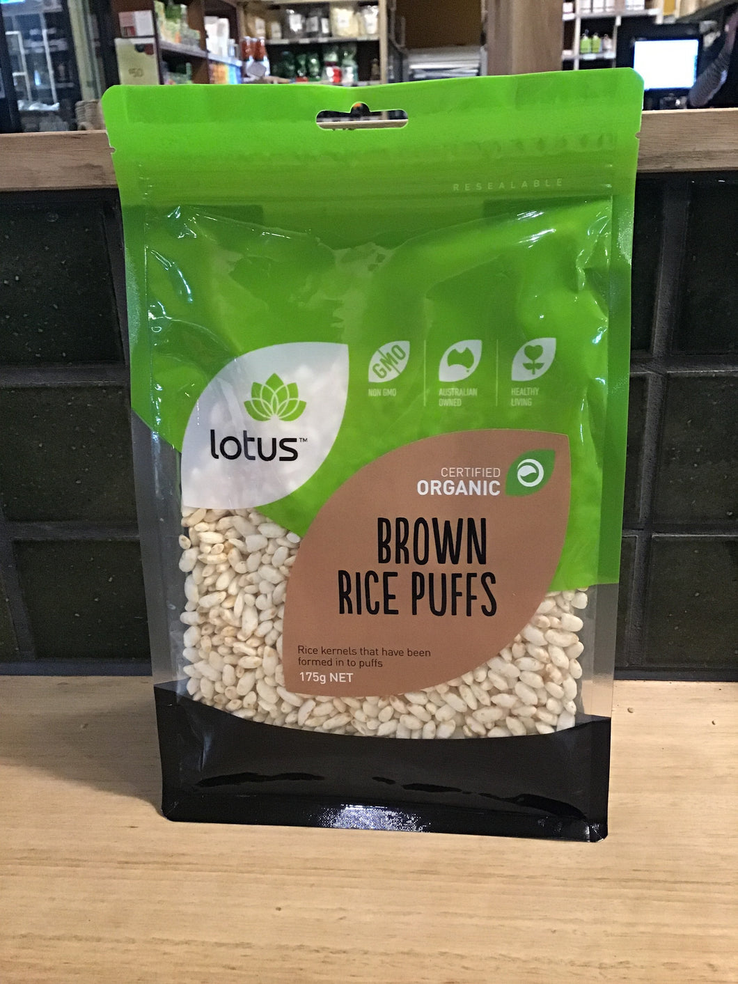 Lotus Brown Rice Puffs Organic 175g