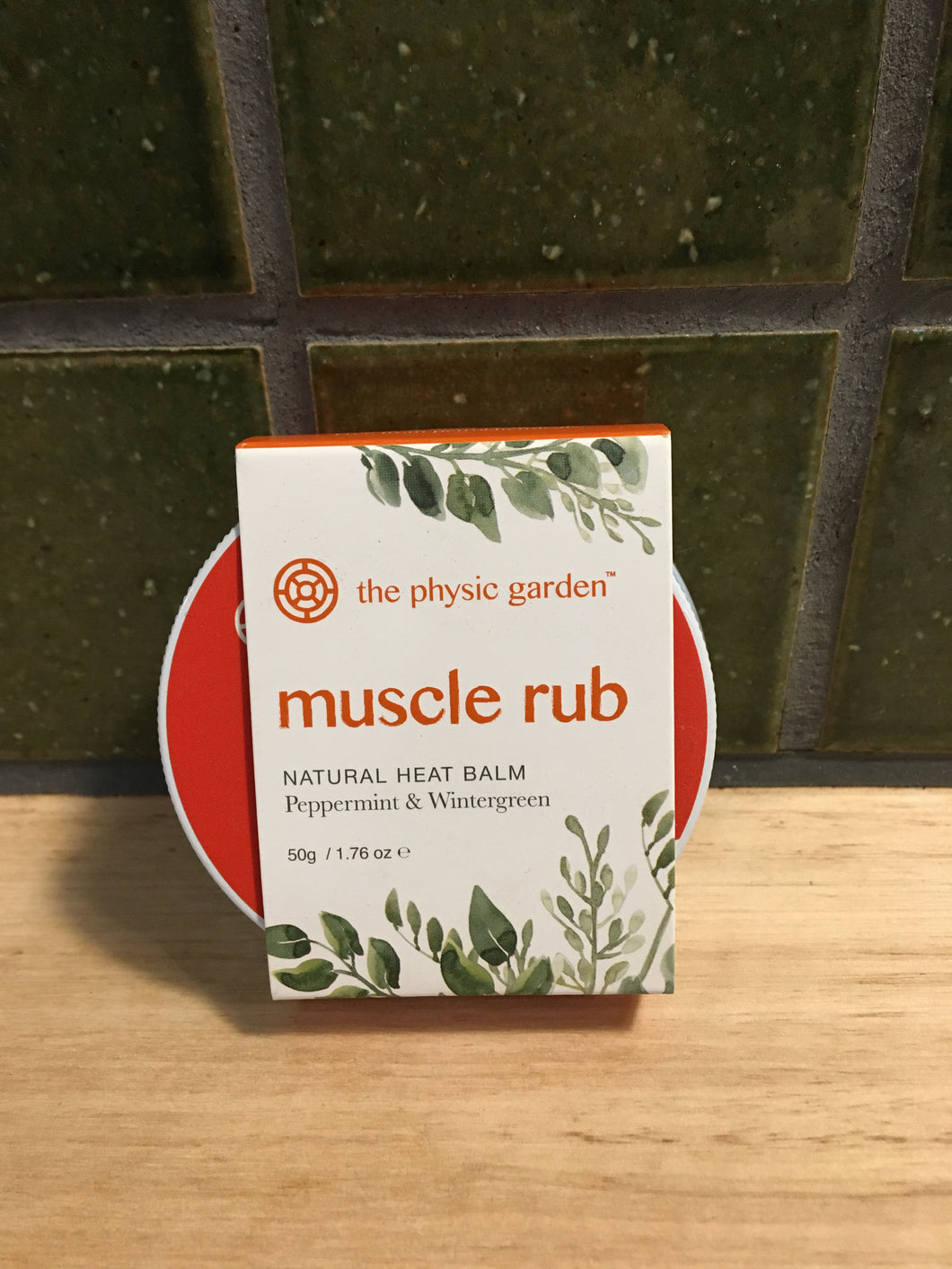 The Physic Garden Muscle Rub Peppermint & Wintergreen 50g