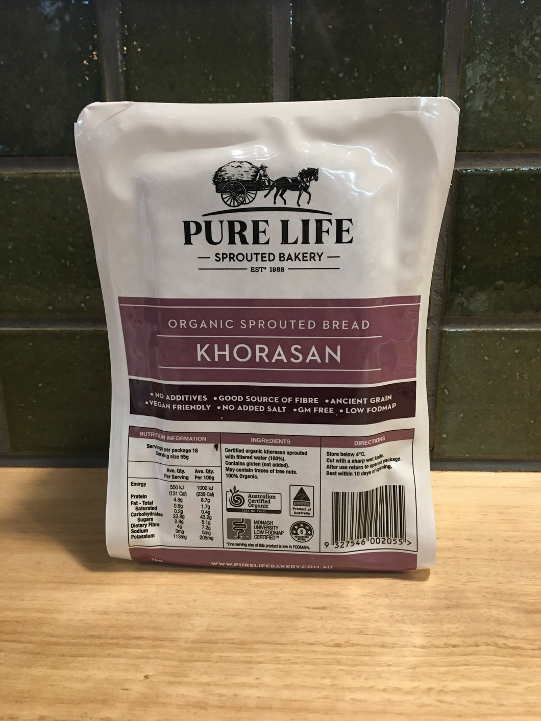 Pure Life Sprouted Bread Khorasan 1kg