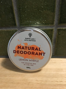 Earth Lab Natural Deodorant - Lemon Myrtle 100g