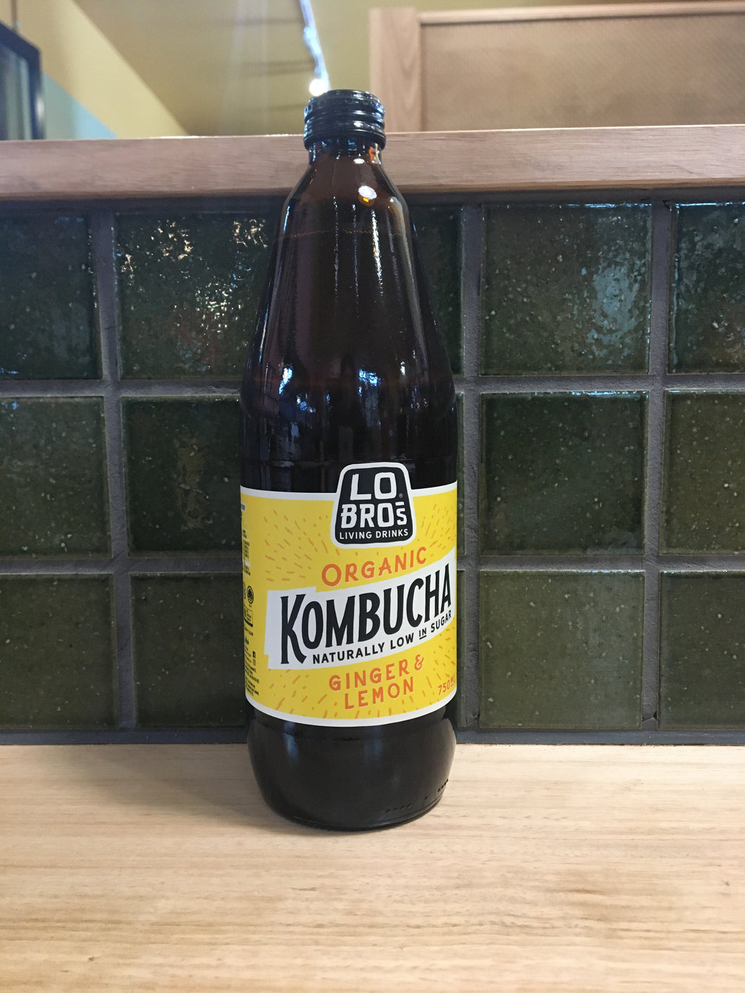 Lo Bros Kombucha Ginger Lemon 750ml
