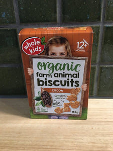 Whole Kids Farm - Animal Biscuits Organic - Cocoa 150g