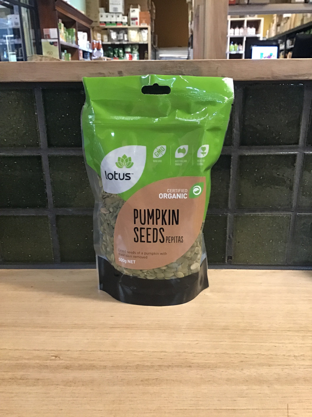Lotus Pepitas (Pumpkin Seeds) Organic 500g