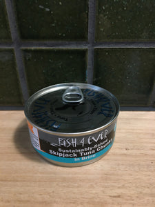 Fish 4 Ever Skipjack Tuna Chunks in Brine 160g