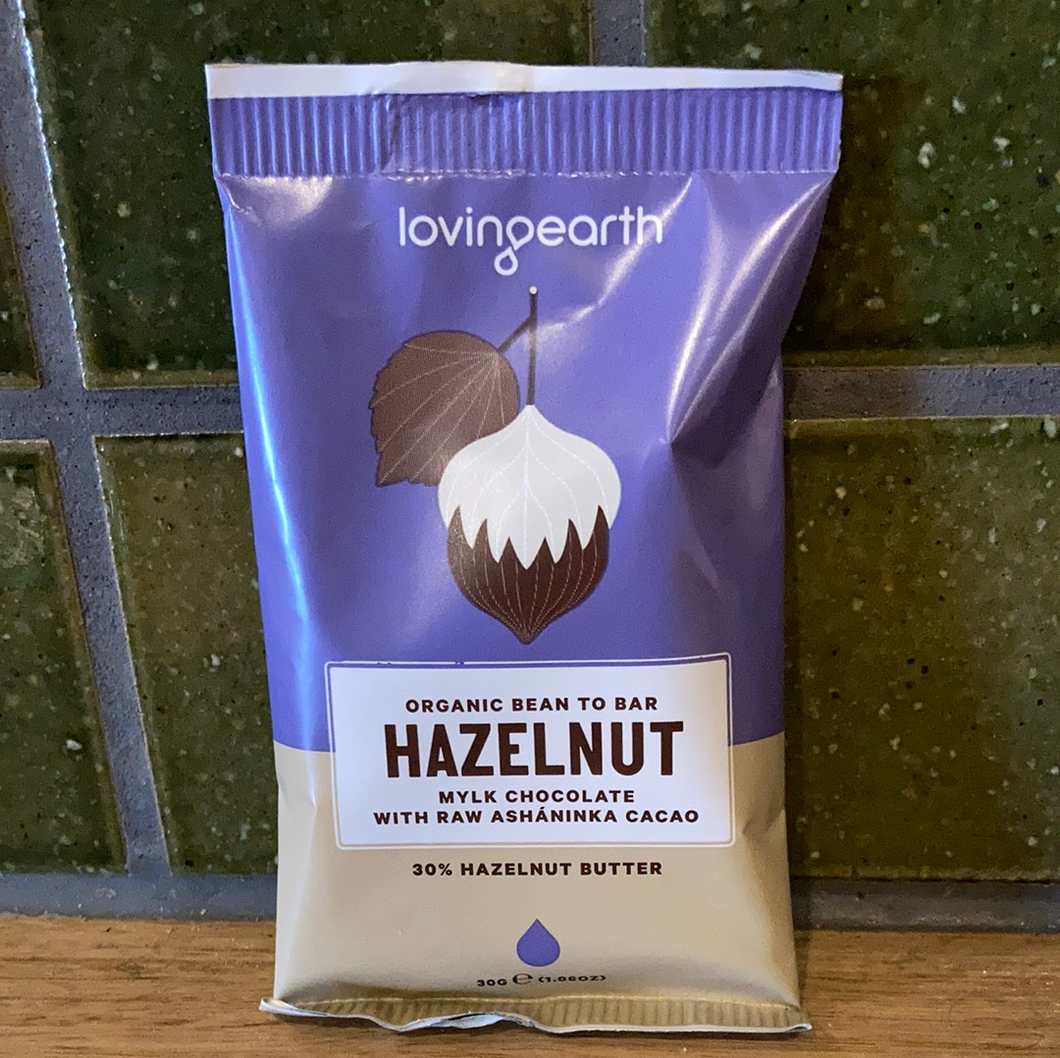 Loving Earth Mylk Chocolate - Hazelnut 30g