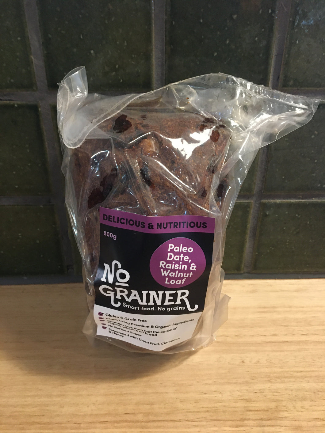 No Grainer Loaf - Paleo Date Raisin & Walnut 800g