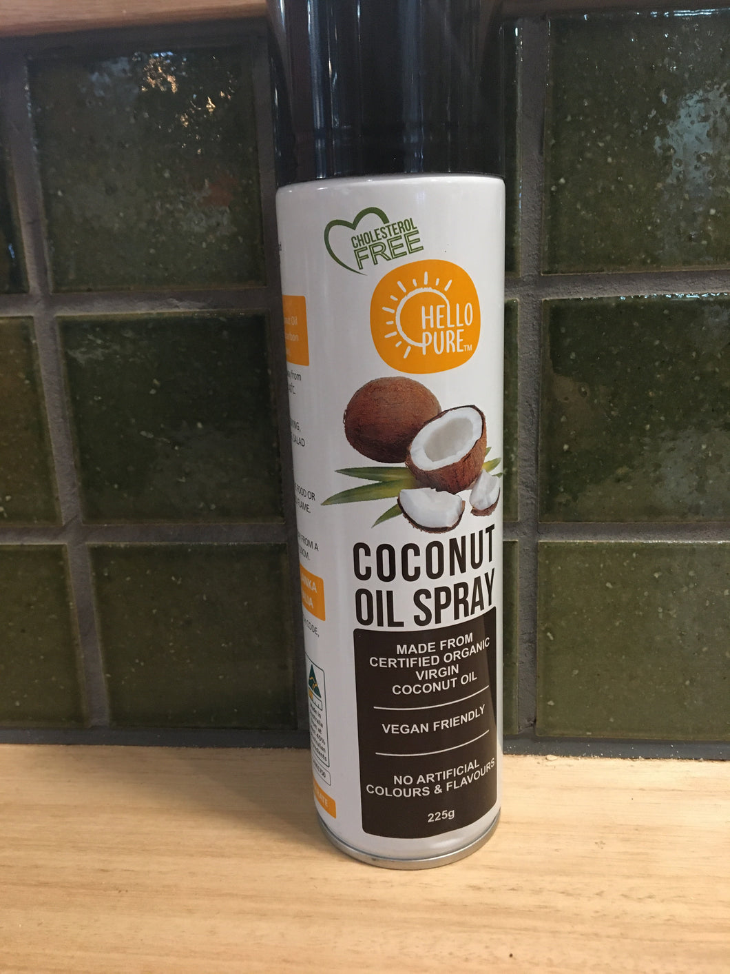 Hello Pure Coconut Oil Spray 225g