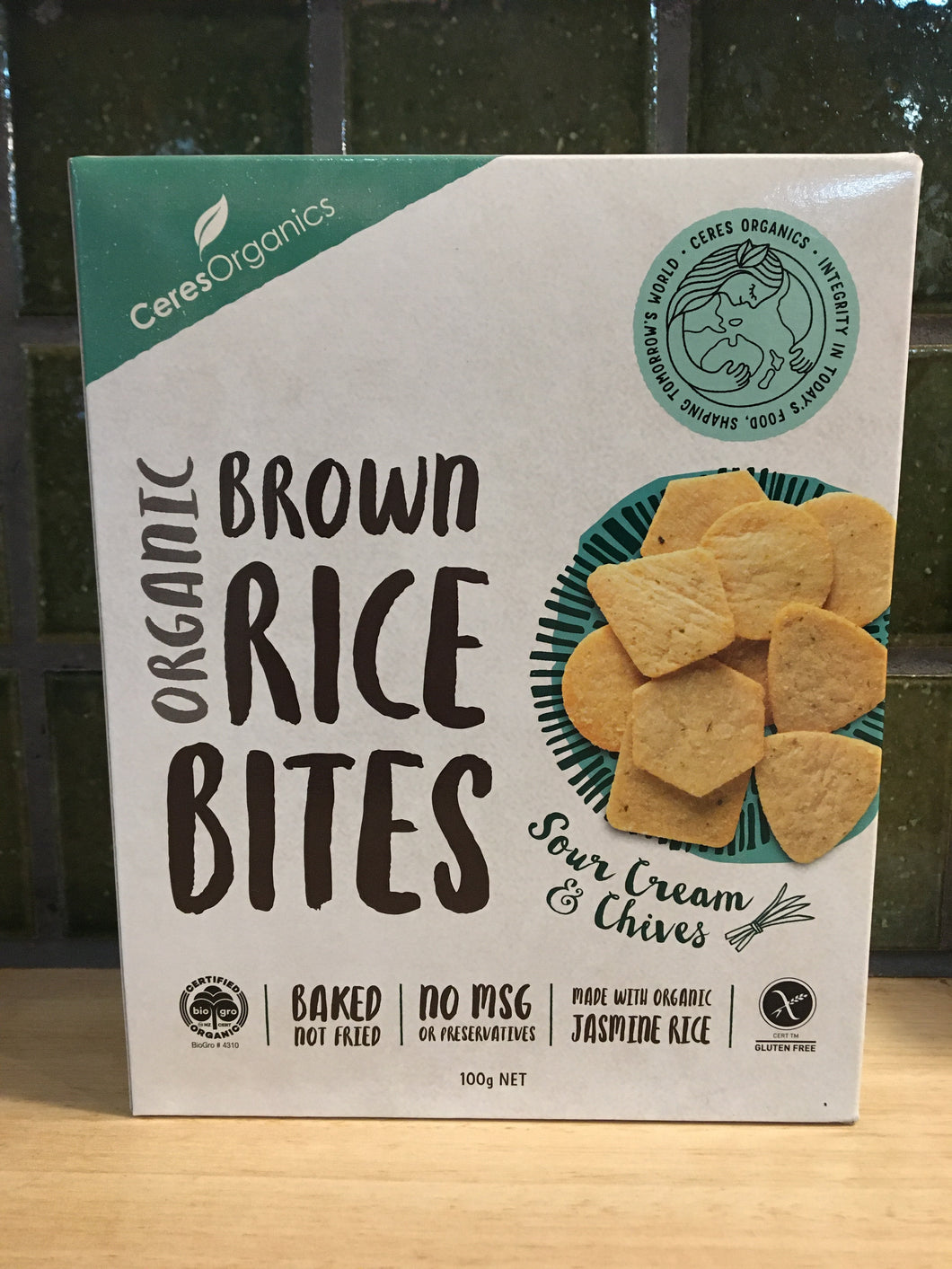 Ceres - Brown Rice Bites - Sour Cream & Chives 100g