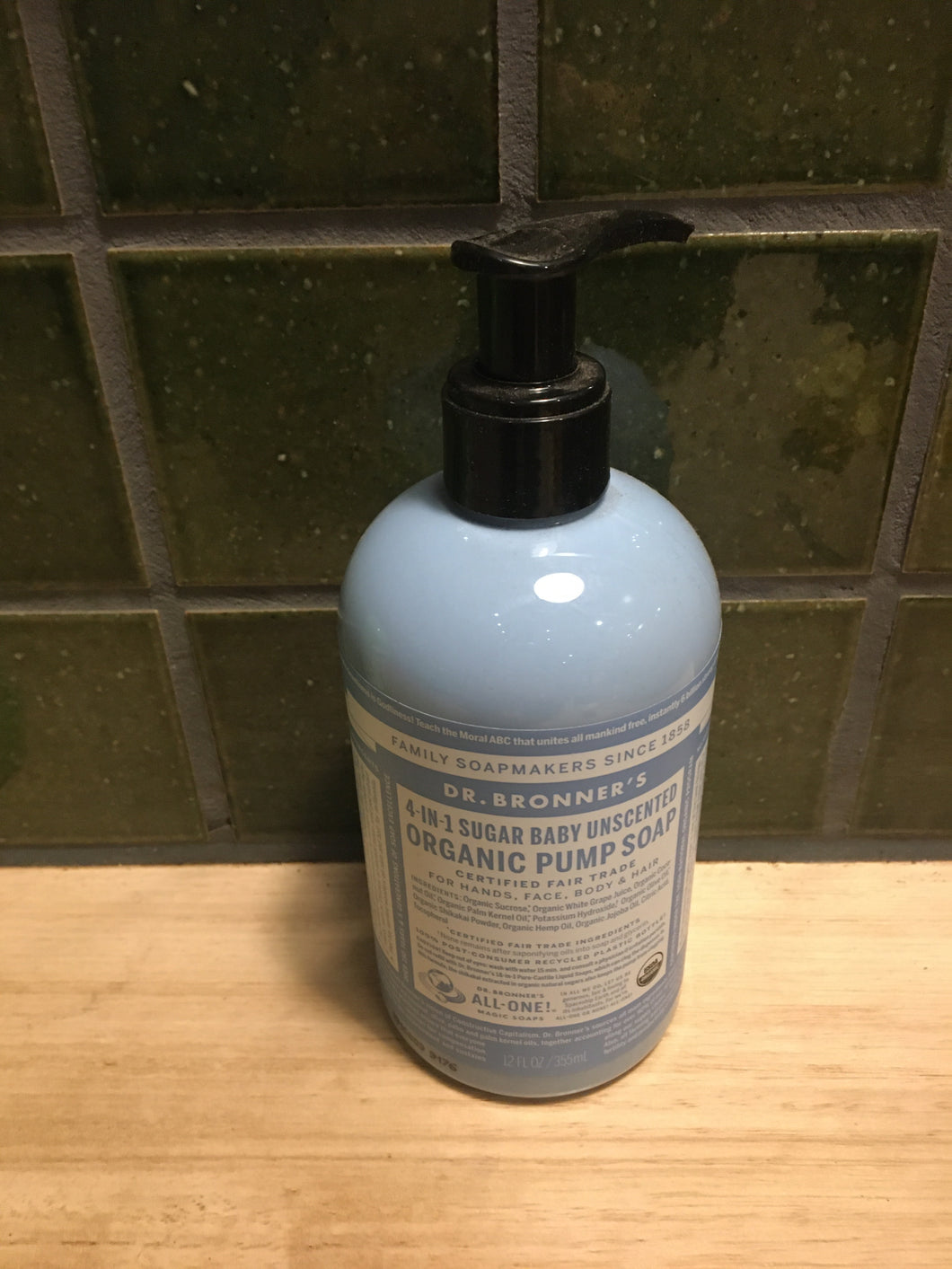 Dr Bronner's 4-in-1 Pump Soap - Baby 355ml
